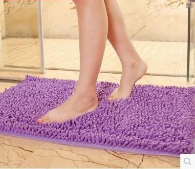 Big Microfiber Bath Mats Soft Comfortable Chenille Material Absorbent Bath  Rugs Mats Bathroom Floor Mats 5