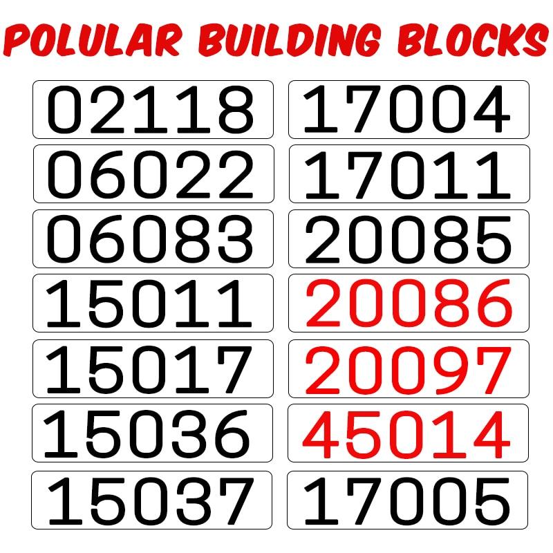 NEW ARRIVAL Building Block 02118 06022 06083 15011 15017 15036 15037 17004 17011 20085 20086 20097 37003 45014 LegoINGlys BrickNEW ARRIVAL Building Block 02118 06022 06083 15011 15017 15036 15037 17004 17011 20085 20086 20097 37003 45014 LegoINGlys Brick
