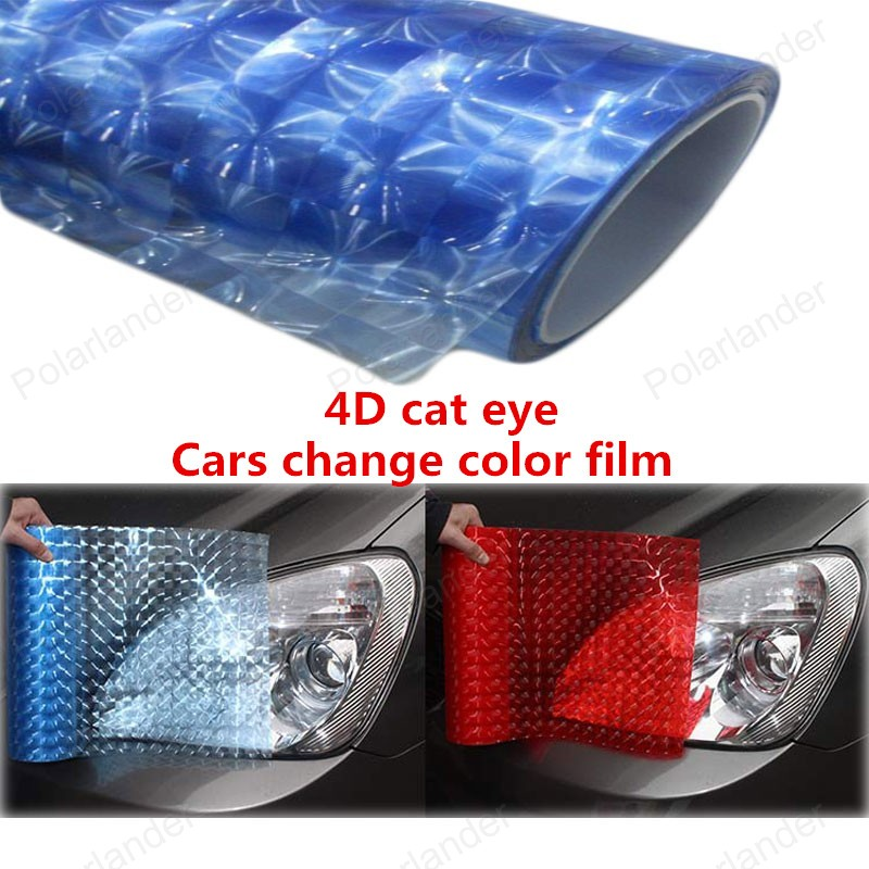 Carro De Fibra De Carbono 4D Cat Eye Film decoração Adesivo Auto Wrapping Vinyl Foil Alterar Cores Covers 152x20 CM