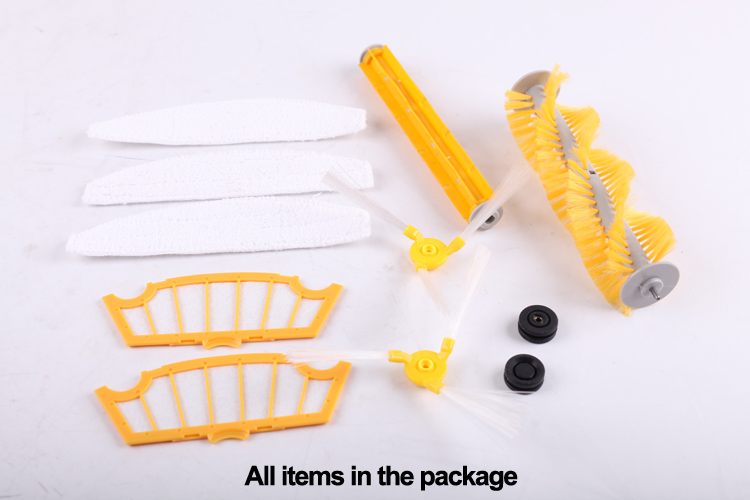 (For A320,A325,A335,A336,A337,A338)Accessories for Robot Vacuum Cleaner, Main Brush,Rubber Brush,Ring,Side Brush,HEPA Filter,Mop