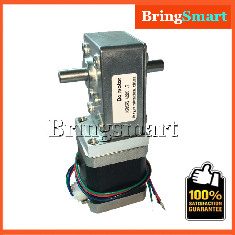 Wholesales Worm DC Motor A58SW-42BYS 12v Stepping Geared Motor 24v Double Shaft For Ratio 1:32 Reduction Gearbox High TorqueWholesales Worm DC Motor A58SW-42BYS 12v Stepping Geared Motor 24v Double Shaft For Ratio 1:32 Reduction Gearbox High Torque