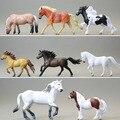 Моделирование мелких животных модель Игрушки верховая Действие и Игрушки Фигурки лошадей пони 8 шт./компл. Домашней Коллекции