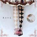 Princesa dulce lolita medias bebé Peces Japoneses originales Ahueca Hacia fuera el cristal de diamante de cristal sobre la rodilla medias GXW13