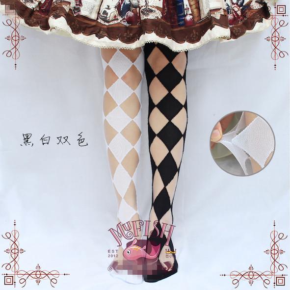 Princesa meias lolita doce do bebê Peixe original Japonês escavar GXW13 de vidro cristal de diamante sobre as meias de joelho