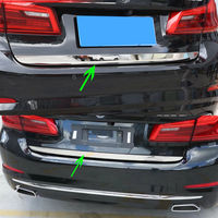 Chrome Rear Trunk Tailgate Back Door Stainless Steel Door Lid Cover Trim Strip For 2018 BMW 5 Series G30 Car Styling