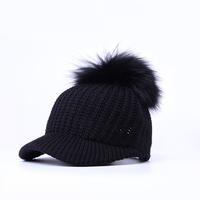NAISLEY Sale Rushed 2017 Unisex Women S Hat Baseball Female Cap Real Mink Pom Poms Ball
