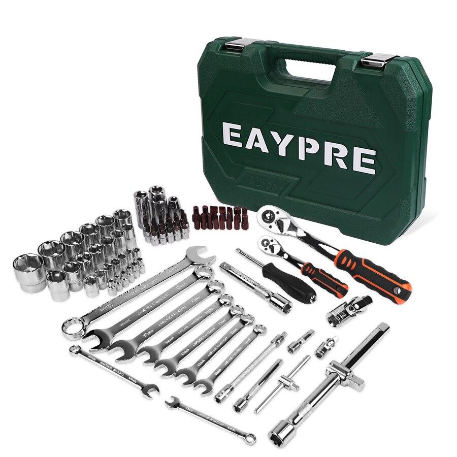 Herramientas de reparación de coches Juego de Herramientas mecánicas 121 piezas 150 Uds herramientas de llave de enchufe para Auto Llave de trinquete destornillador Juego de llaves hexagonales - 2