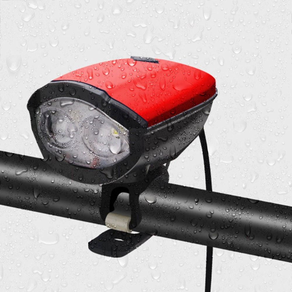 Top 2018 New Universal USB Rechargeable Bike Light Loud Sound Bicycle Bell Light Waterproof Super Bright LED Lamp Front Headlights 4