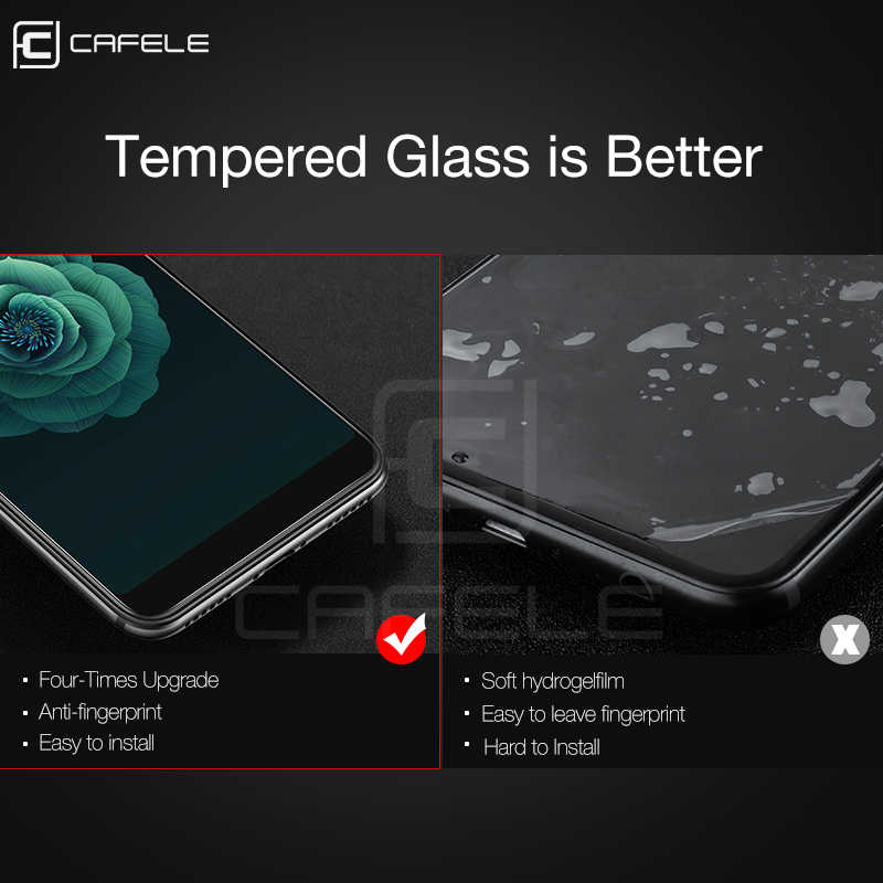 Cafele protetor de tela para xiaomi redmi k20 pro nota 7 8 pro mi 9 8 6 5S mix 3 2s a1 5x vidro temperado 3d película protetora