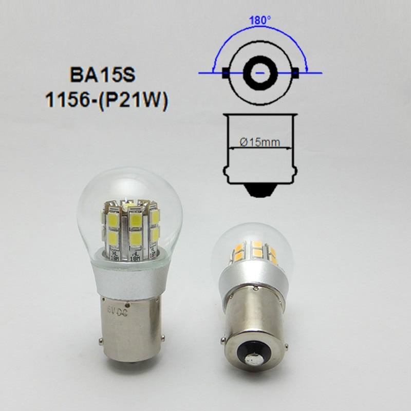 AMYWNTER 1156 лампасы P21W екі кернеулі 6V - Автокөлік шамдары - фото 4