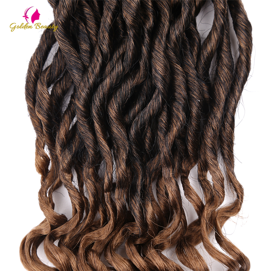 Radient Alileader 16 Brown Burgundy Synthetic Goddess Faux Loc Crochet Curly End Braiding Hair Ombre Crochet Braids Hair Extension Home