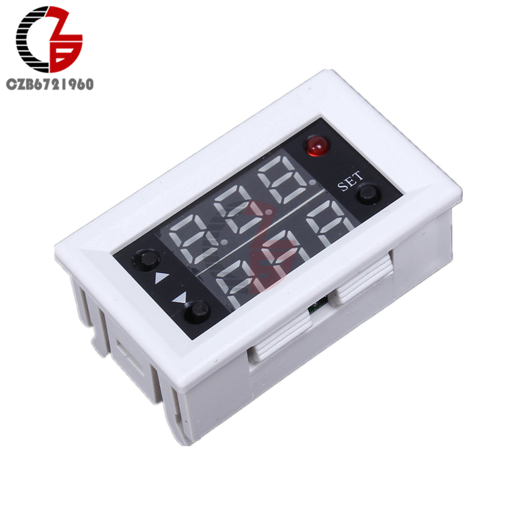 Mini 12V 20A Digital LED Dual Display Timer Relay Module Timing Delay Cycle led digital display circle delay time relay module time adjustable blue 12v