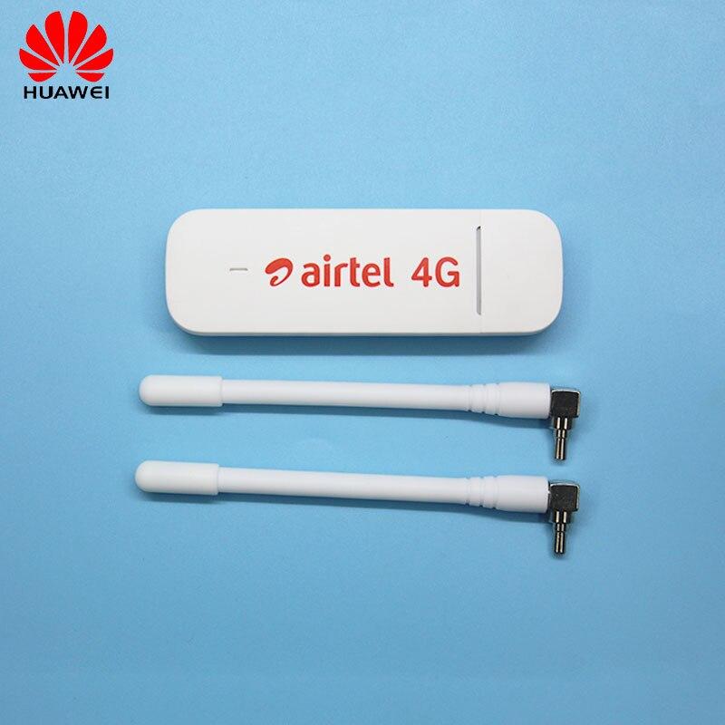 HUAWEI E3372 E3372h-607 150 Mbps 4G LTE Modem dongle clé USB Datacard avec 2 antennes CRC9