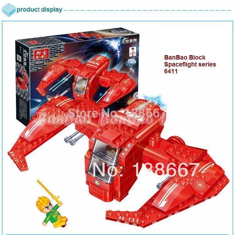 learning & education Space series 6411 Mini Spaceflight 158pcs Building Block Set Children Bricks Toy Birthday Gift