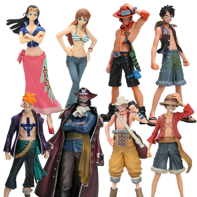 Anime One Piece 16cm 2pcs/set 2 Years Later Luffy VS Ace Nami Nico Usoop