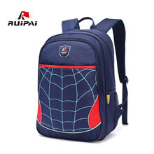 RUIPAI Kids School Bag Backpack Schoolbags Spider Shoulder Bags For Primary Student Boys Girls Polyester Satchel Backpacks