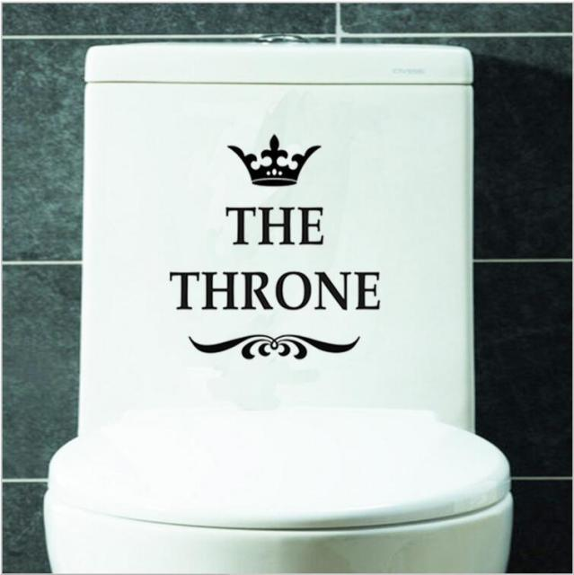 """The Throne"" Toilet stickers"