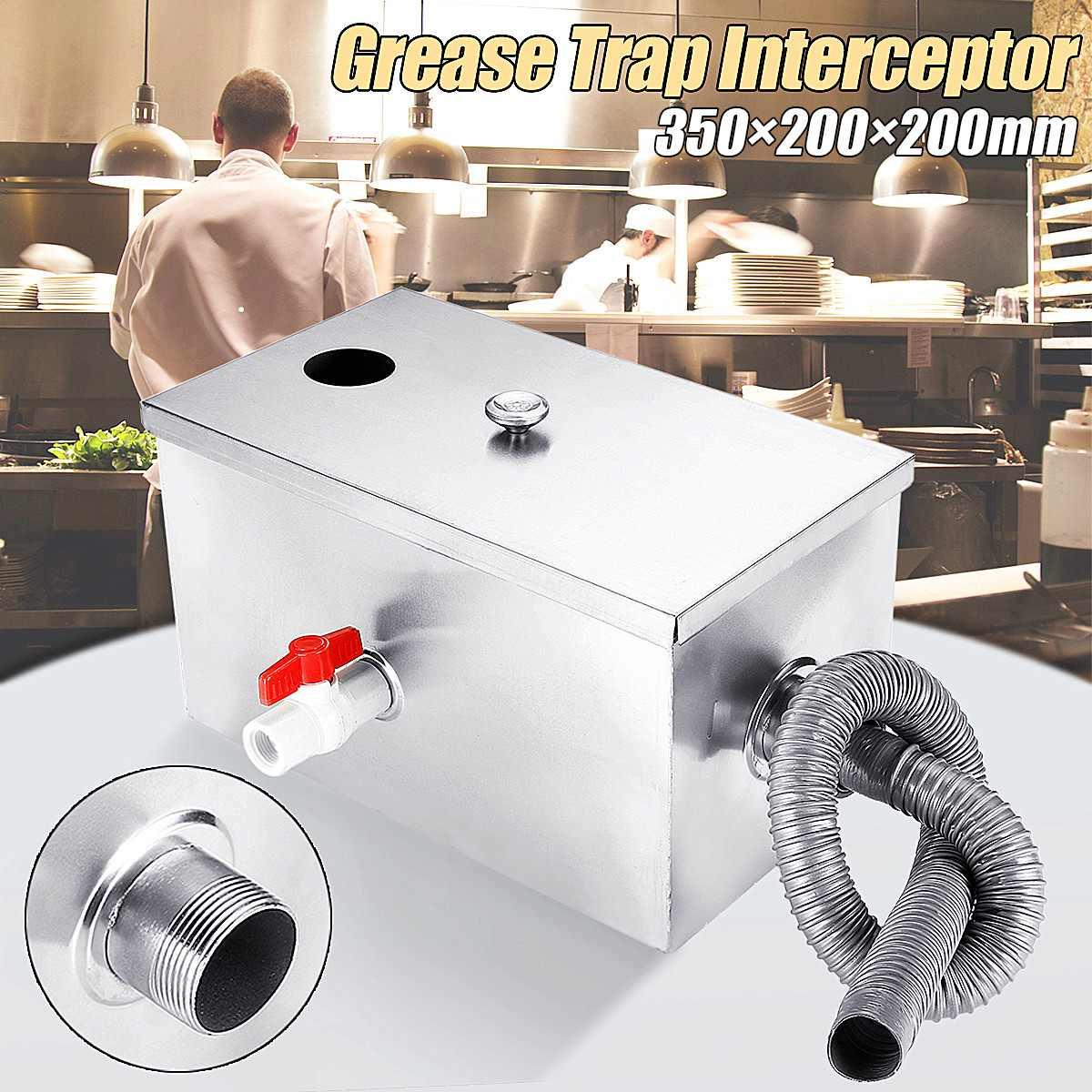 Séparateur d'eau d'huile d'intercepteur de piège à graisse de l'acier inoxydable 8LB de 350*200*200mm pour des outils de traitement des eaux usées de cuisine de Restaurant