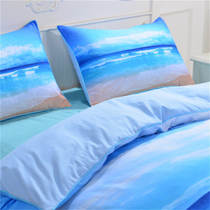 Image 2 - CAMMITEVER Sea Bedding Set Queen Size Duvet Cover Bed Set Beautiful Sea Bedclothes 3pcs AU Single Double King Queen