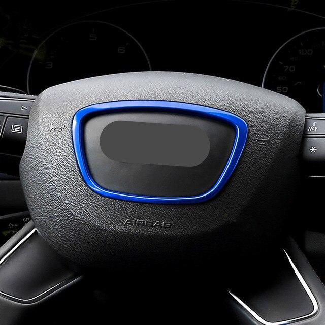 Koła kierownicy samochodu dekoracyjna przypinka pierścień naklejka na Audi A3 A4 Q3 Q5 A6 A8 Q7 wnętrze auta naklejka pokrywa naklejki srebrne pierścionki