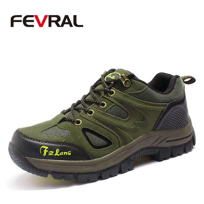 FEVRAL Men Running Shoes Brand High Quality Sneakers Male Athletic Sport Shoes Outdoor Light Salomon Breathable Casual Shoes