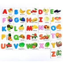 Free shipping Teaching Resources 26PCS English alphabet  blocks, Kids wooden English letter Blocks, Baby wooden block toys english for human resources cd