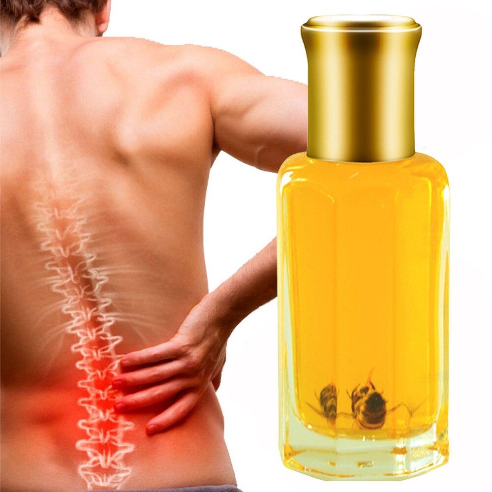 Bee venom oil shoulder neck waist foot pain Relax joint pain back pain backache relief house health care