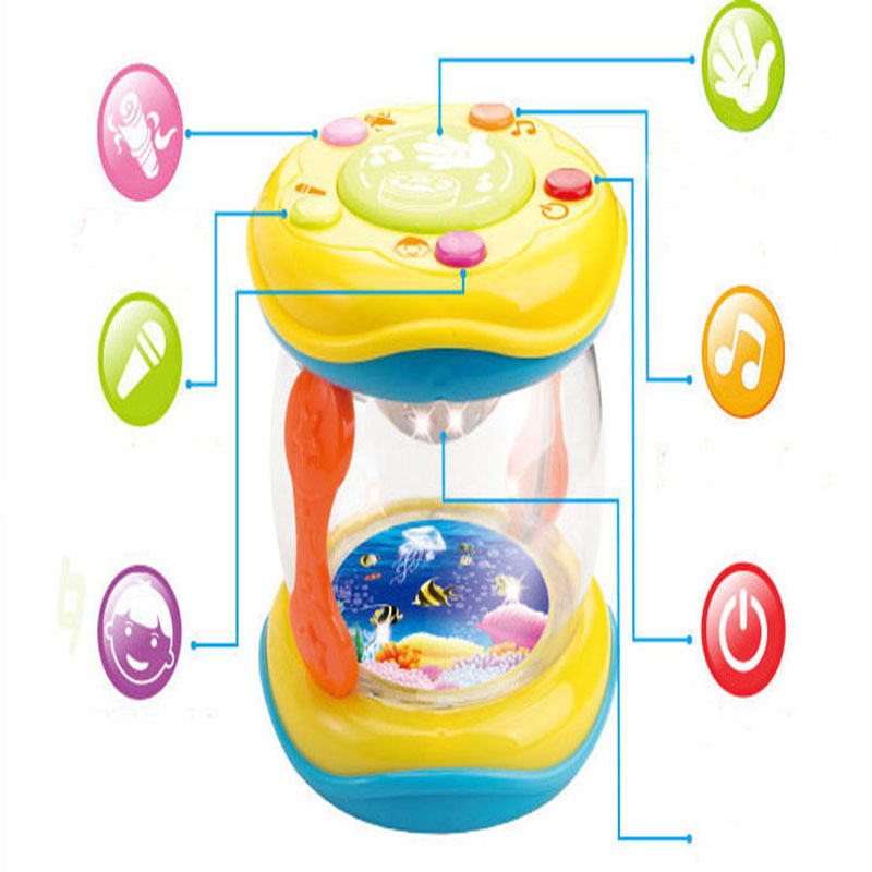 Mini Magic Hand Drum Baby Toy with LED & Music 12