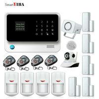 SmartYIBA WI FI GSM охранной Системы приложение Remote Управление двери Сенсор сигнализации Камера детектор сигнализации Наборы дом сигнализации