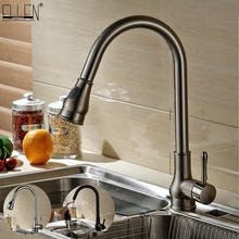 Kitchen Sink Faucets Pull Out Deck Mounted Mixer Tap 360 Degree Rotation Mixer Tap Crane For Kitchen