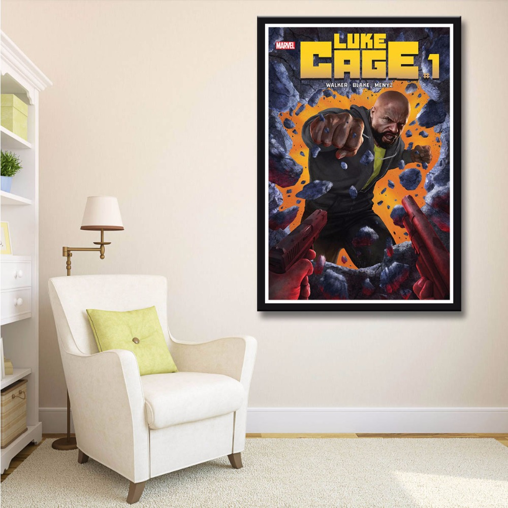 Scarface money power respect vinyl wall decal for home decore - X078 Luke Cage 1 Nm New 2017 Movie Power Man David Walker Blake A4 Art Print