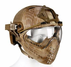 Image 3 - Tactical helmet with Mask Military Airsoft Army WarGame Motorcycle Cycling Hunting Riding Outdoor Activities