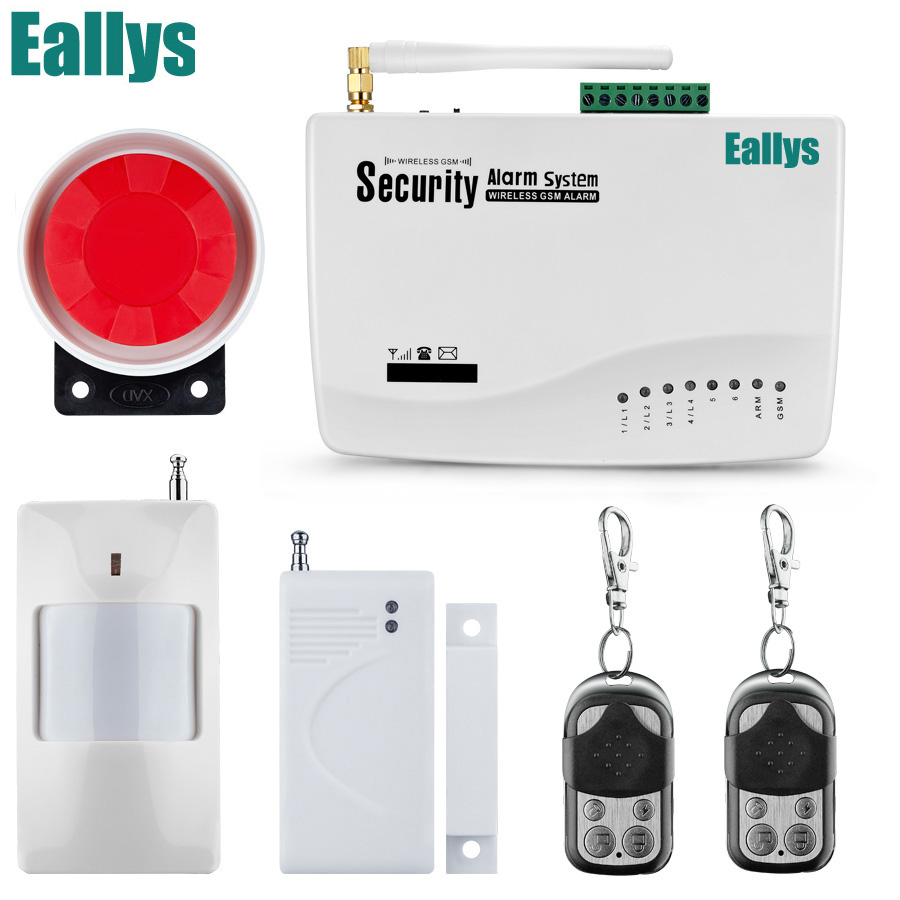 Promotion for Russian English Voice Wireless GSM Alarm System Single Antenna Alarm Systems Security Home Alarm