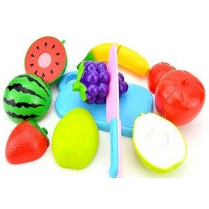 12PCS Kinder spielen Haus Spielzeug geschnitten Obst Plastik Gemüse Küche Baby Classic Kids Spielzeug so tun, als ob Spielset Lernspielzeug