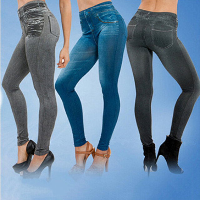 New fashion Leggings Jeans Denim Pants spring autumn ladies imitation jeans women's thin section sexy comfortable feet pants 3