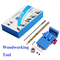 2018 XK 1 Woodworking Oblique Hole Punch 9MM Hole Puncher+Screwdriver+Step Drill Bit+Wrench with Box For Woodworking DIY Tools