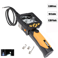 3 5 LCD Inspection Camera Borescope Endoscope Zoom Rotate Slim 5 5 Mm 1M Cable Torch