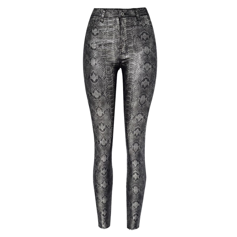 19 Winter Plus Size Stretch PU Leather Pants For Women High Waist Joggers Womens Trousers Pencil Skinny Waisted Female Pants 52