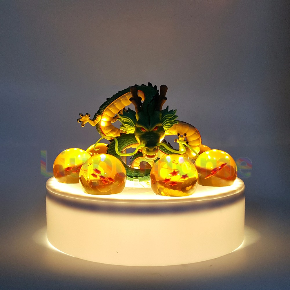 Anime Dragon Ball Z Shenron Crystal Ball Led Set Dragon Ball Super Son Goku Led Nightlight Lamp Bulb For Home Decor anime dragon ball z golden shenron crystal ball led set dragon ball super son goku dbz led lamp night lights xmas gift