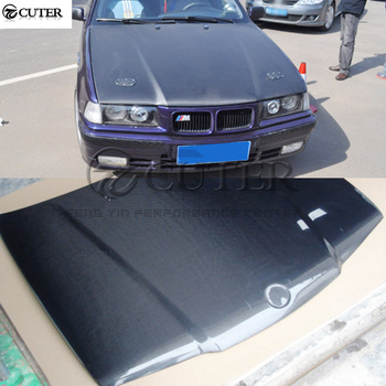 E36 3 series Sedan Origianl style Carbon Fiber Front engine Hood Bonnets engine Covers for BMW E36 325i Sedan 92-99 image