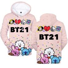 3D BTS BT21 Kawaii Hoodie [4 colors]