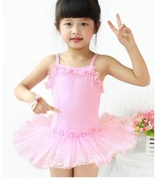 New Pink Baby Girls Dancing Clothes Children Stage Clothing Kids Dance Costume Leotard Gow Professional Ballet