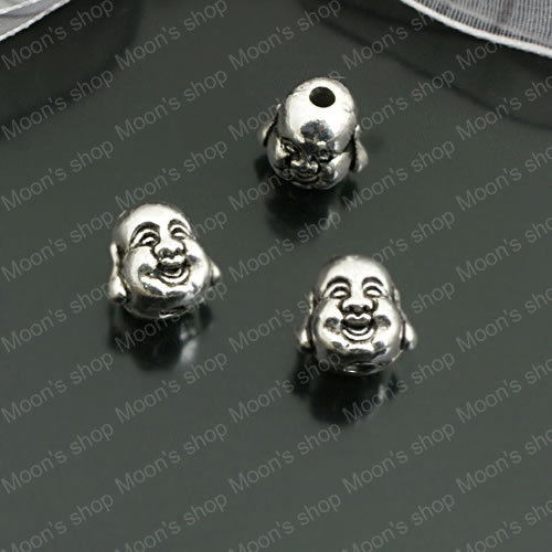 (26987) Wholesale Jewelry Findings & Components Alloy Antique Silver 10MM Beads Buddha 30PCS