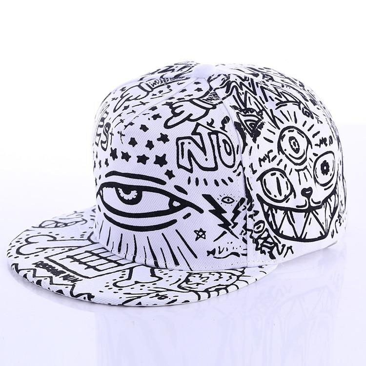 Fashion New Graffiti eyes Hip hop   Cap   Hats for men women Vintage flat hat   Baseball     Cap   70014