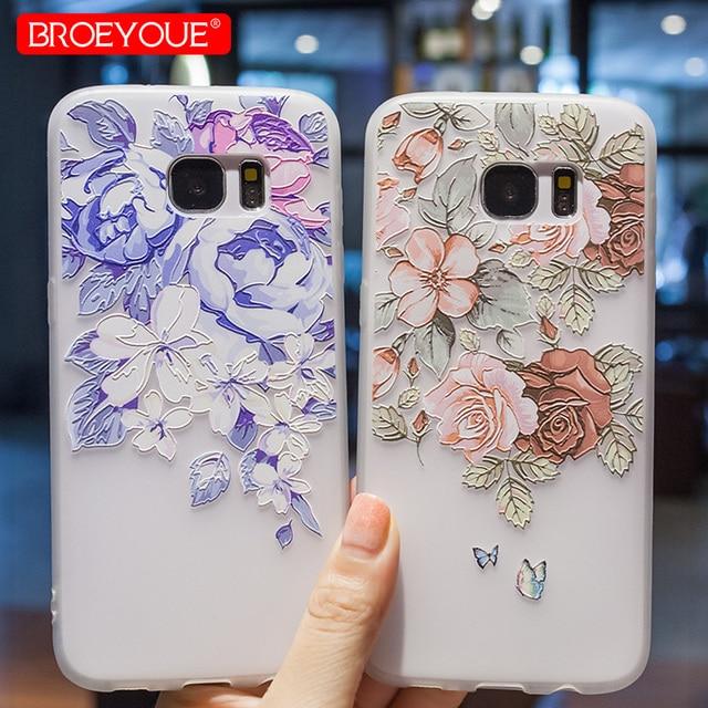 c581c8f6206 BROEYOUE Case For Samsung Galaxy A3 A5 A7 J3 J5 J7 2016 2017 2018 S8 S9 Plus  S7 Edge 3D Relief Case For Samsung Galaxy S9 Plus