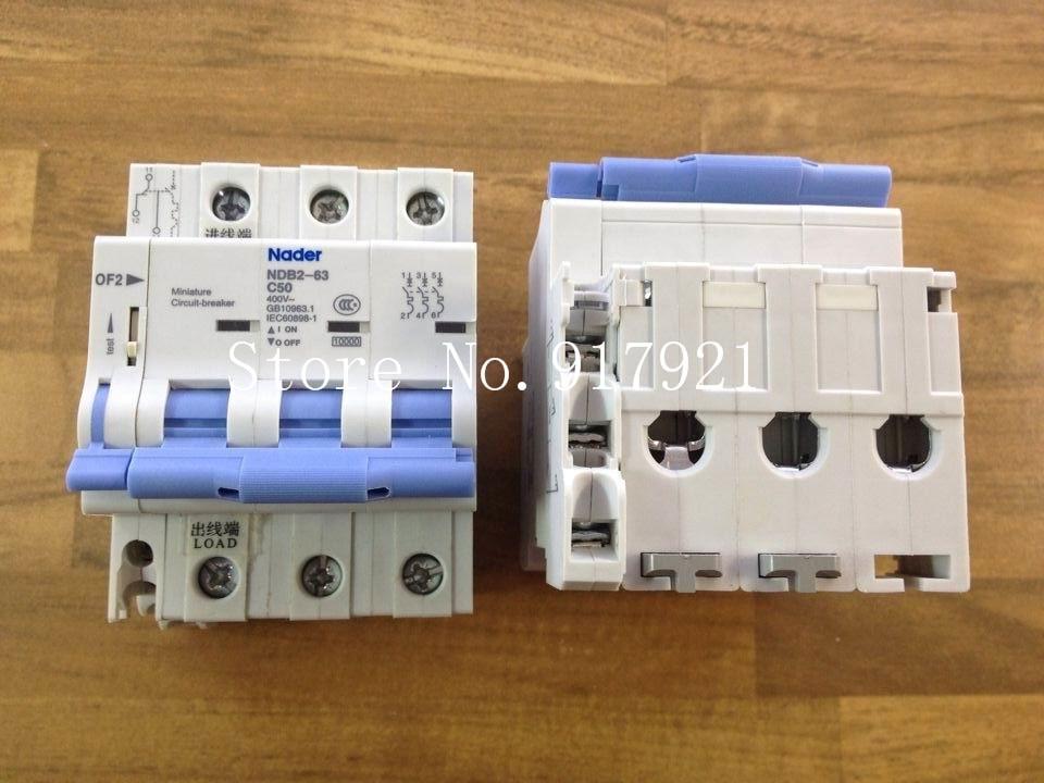 [ZOB] Nader NDB2-63 C50 3+OF2 longsure breaker 3P 50A to ensure genuine  --5pcs/lot 5 pcs of p