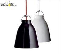 Black White E27 Simple Sofa Design Scandinavian Aluminum Suspension Pendant Lamp Light For Dining Room Bar