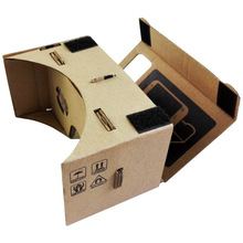 High quality DIY Magnet Google Cardboard Virtual Reality VR Mobile Phone 3D Viewing Glasses For 5