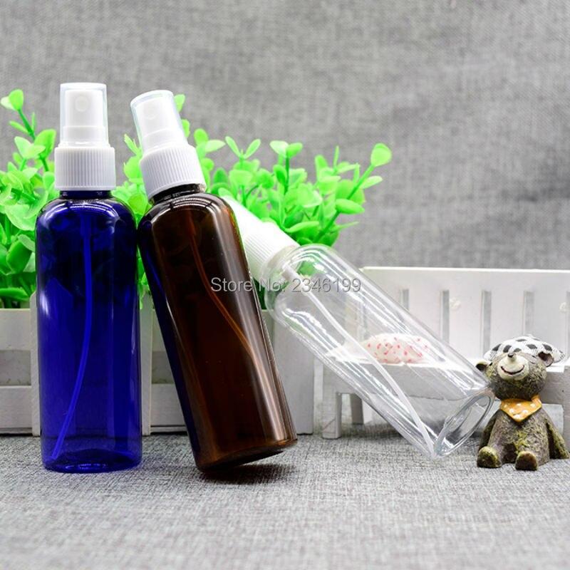 Empty Spray Pump Bottle 100ml Blue Plastic Spray Bottle Empty Plastic Cosmetic Container Plastic Brown Spray Bottle 100ml (4)