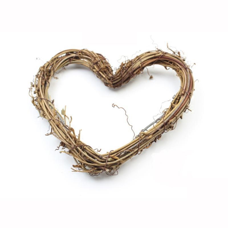 1pc Valentines Day Wreath Decoration Natural Dried Rattan Wreath Xmas Garland Home Door Wall Diy Decoration Accessories #108